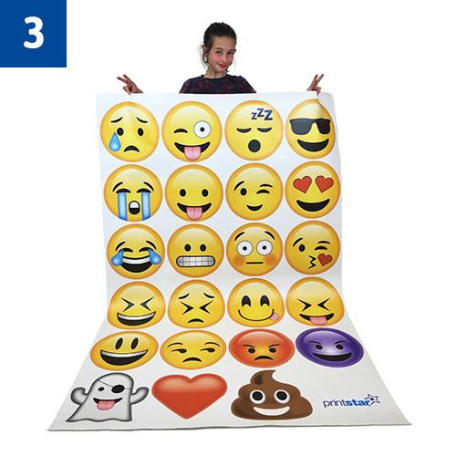 23 Medium Emojiu0027s £98  sc 1 st  Print Star & Emoji Wall Art | Printed Products | Print Star