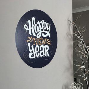 Happy New Year Wall Art