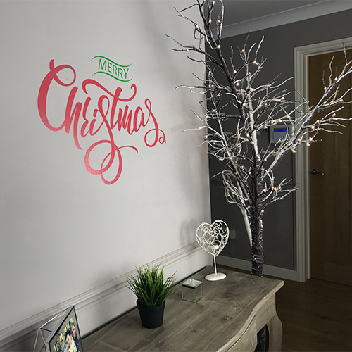 Merry Christmas Wall Lettering