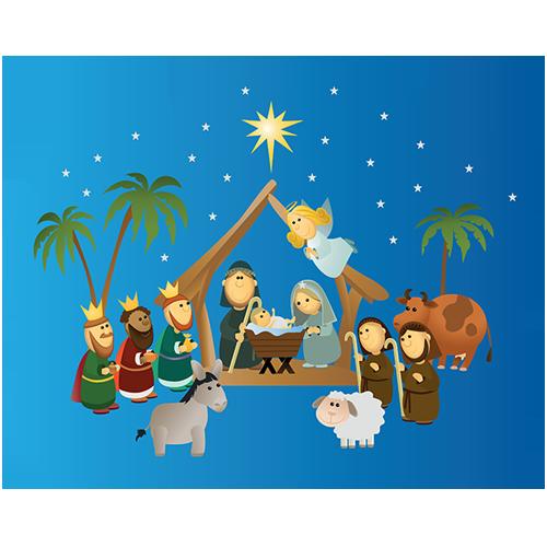 Nativity Scene Wall Art