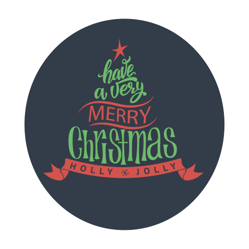 Have a Very Merry Christmas Wall Lettering (one piece circular graphic)
